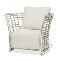 Белое кресло из искусственного ротанга Villa