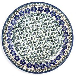 Тарелка с сине-зеленым узором