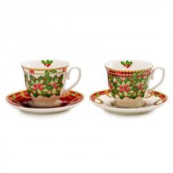Чашка для чая с блюдцем, набор 2 шт.