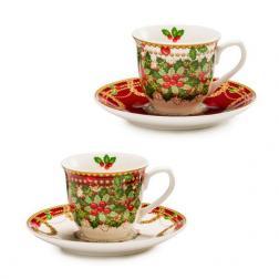 Чашка для кофе с блюдцем, набор 2 шт.