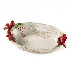 Нарядный салатник с лепным декором
