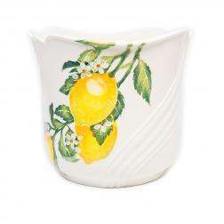 Цветочное кашпо из белой керамики