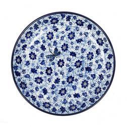 Набор из 6-ти обеденных тарелок синего цвета