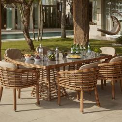 Стол обеденный прямоугольный Villa Natural Mushroom