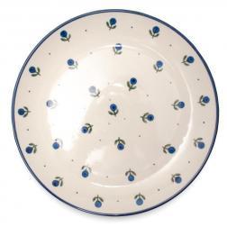 Тарелка обеденная с узором из синих ягод