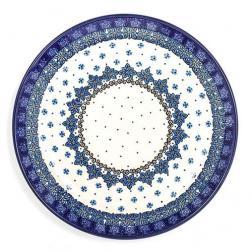 Тарелка обеденная с синим цветочным узором