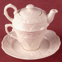 Фарфоровая чашка-чайничек 2в1