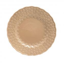 Тарелка десертная с выпуклым цветочным узором