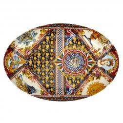 Блюдо овальное с ярким дизайном Santa Rosalia