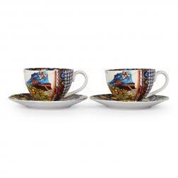 Набор из 2-х кофейных чашек с блюдцами Santa Rosalia