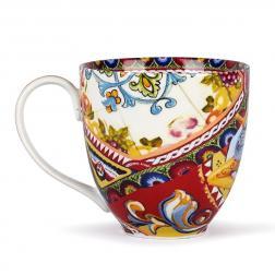 Чашка чайная высокая с ярким рисунком Santa Rosalia