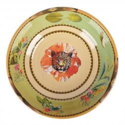 Меламиновая тарелка для супа в зеленых тонах Ete Savage