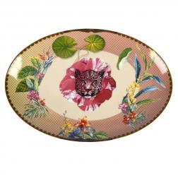 Большое овальное блюдо с тропическим рисунком Ete Savage