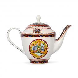 Белый фарфоровый заварник для чая с узором Santa Rosalia