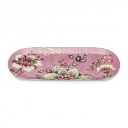Продолговатый овальный поднос розового цвета Fleurs