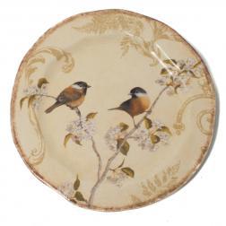 Тарелка салатная из керамики с изысканным рисунком