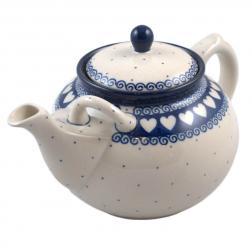 Чайник керамический с сердечками
