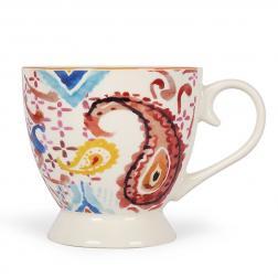 Чашка чайная из белого фарфора с узором Samba Brasilia