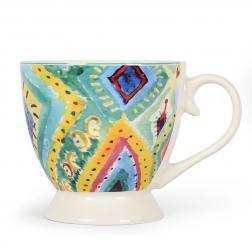 Чашка чайная с разноцветным орнаментом Samba San Paulo