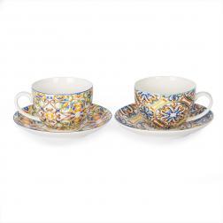 Набор чайных чашек и блюдец из фарфора Medicea, 2 шт.