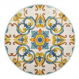 Блюдо круглое из высокопрочной керамики с узором Medicea