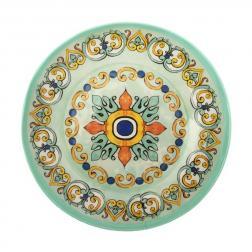 Суповая тарелка из меламина в бирюзово-желтой палитре Medicea