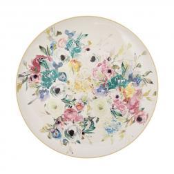 Блюдо круглое из керамики с цветочным рисунком Paradise