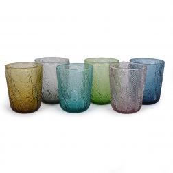 Набор разноцветных стеклянных стаканов, 6 шт. Montego