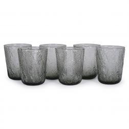 Набор из 6-ти стеклянных стаканов сизого цвета Montego