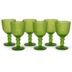 Набор зеленых бокалов для вина Corinto Maison, 6 шт