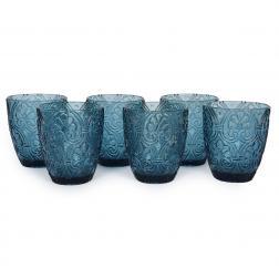 Набор синих стаканов для напитков Corinto Maison, 6 шт