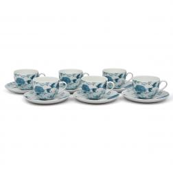 Чайные чашки с блюдцами, набор 6 шт.