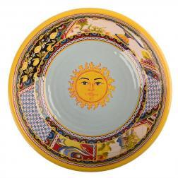 Тарелка суповая с изображением солнца Santa Rosalia