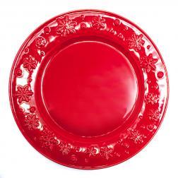 Тарелка подставная в новогоднем стиле
