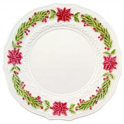 Тарелка обеденная керамическая с рельефным узором