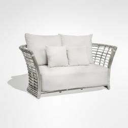 Белый 2-местный диван для сада или террасы Villa