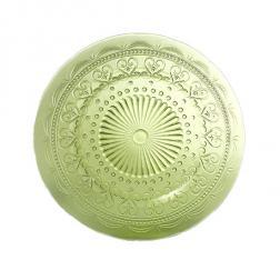 Тарелка стеклянная десертная зеленая