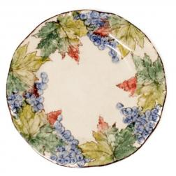Тарелка обеденная с красочной росписью