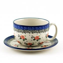 Чашки с цветами, набор 6 шт.