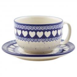 Чашка для чая с блюдцем