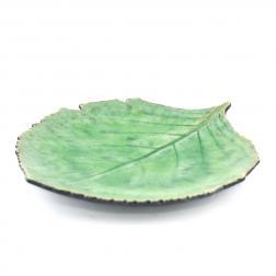 Тарелка десертная зелёная