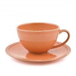 Чашка с блюдцем терракотовая для чая Friso