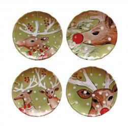 Комплект тарелок зеленый Deer Friends Casafina