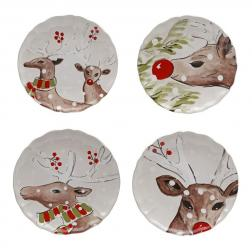 Комплект тарелок белый Deer Friends Casafina