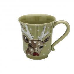Чашка чайная зеленая Deer Friends Casafina