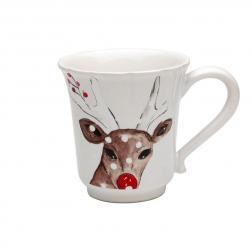Чашка чайная белая Deer Friends Casafina