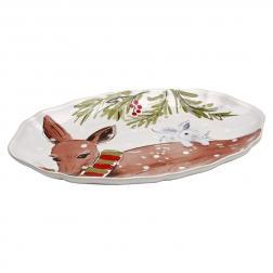 Блюдо овальное белое Deer Friends Casafina