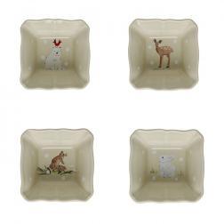 Набор порционных горшочков бежевый Deer Friends Casafina