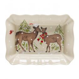Форма для выпекания большая бежевая Deer Friends Casafina