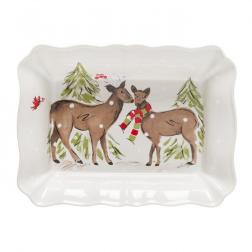 Форма для выпекания большая белая Deer Friends Casafina